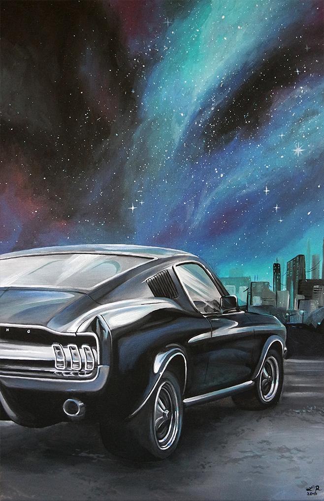 68er Ford Mustang Fast Back (40 x 60 cm)