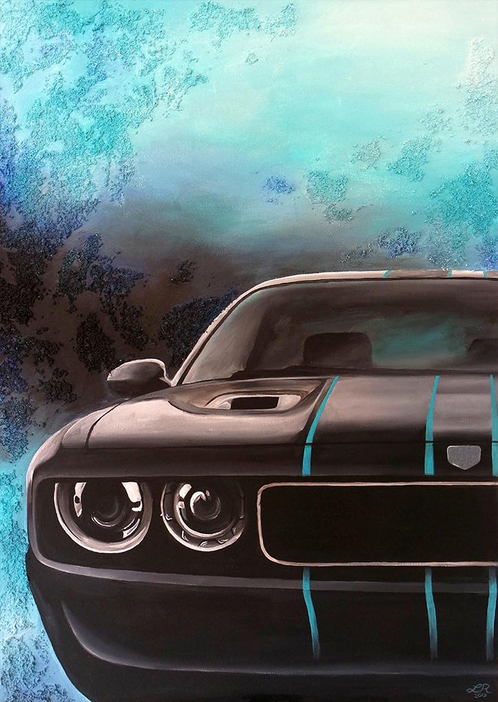 Dodge Challenger (70 x 90 cm)