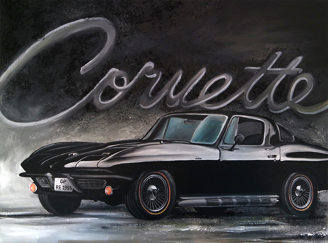 Chevrolet Corvette Sting Ray (90 x 70 cm)