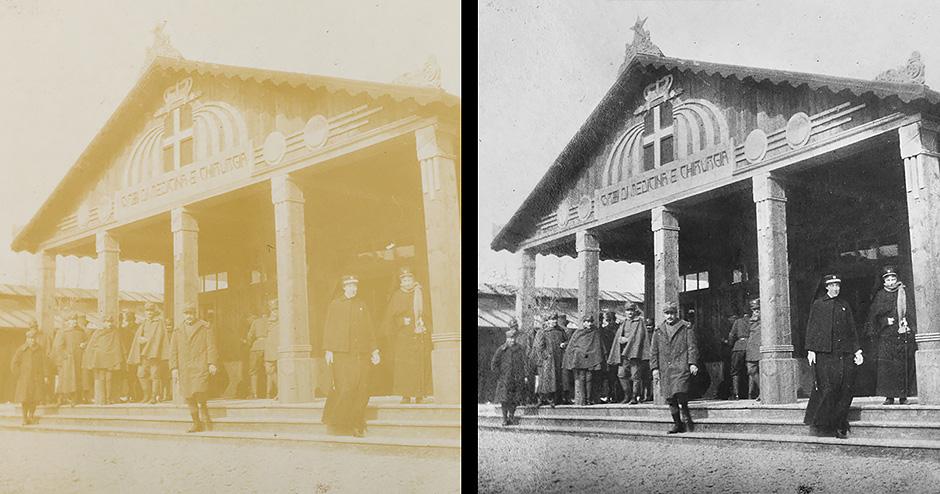 Fotoritocco di fotografie storiche/antiche