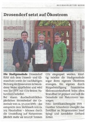 Bezirksblätter Horn, Ausgabe 20, 17./18. Mai 2017