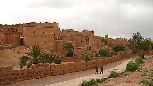Enceinte de la Kasbah de Taourirt à Ouarzazate