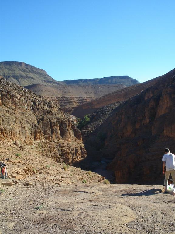Entrée du site de la cascade d'Agdz