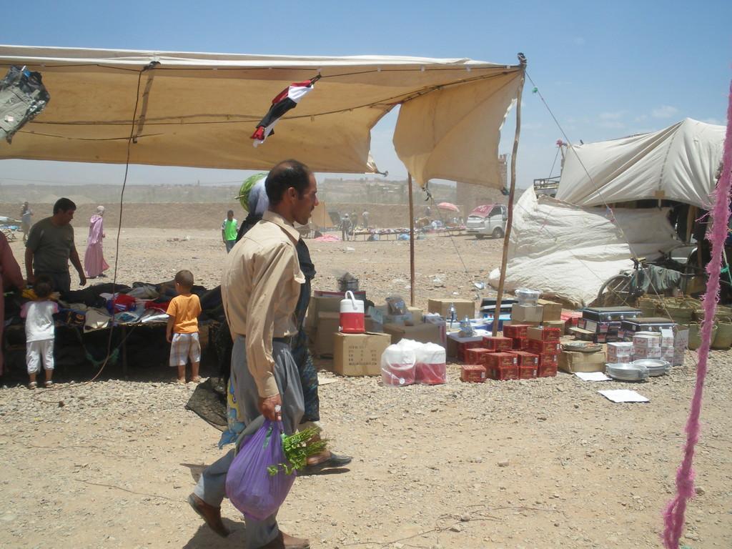 Souk de Tabounte, à la fin du marché