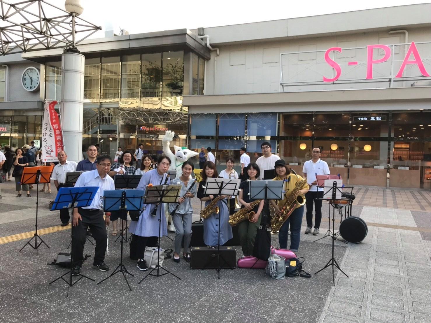 古関裕而・福島駅前フラッシュモブ