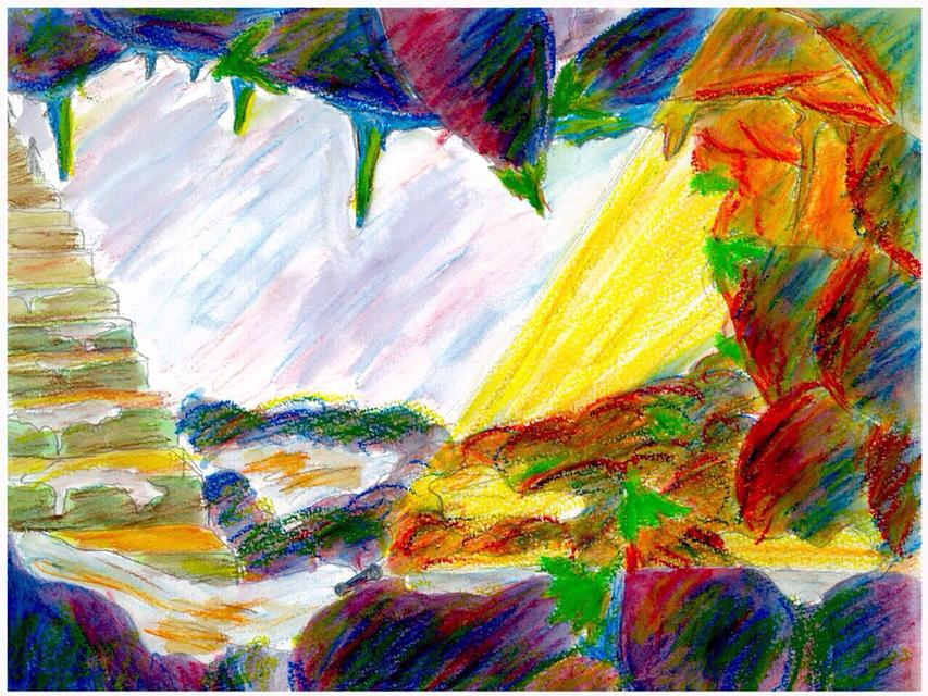 フライヤー原画「茄子の洞窟」