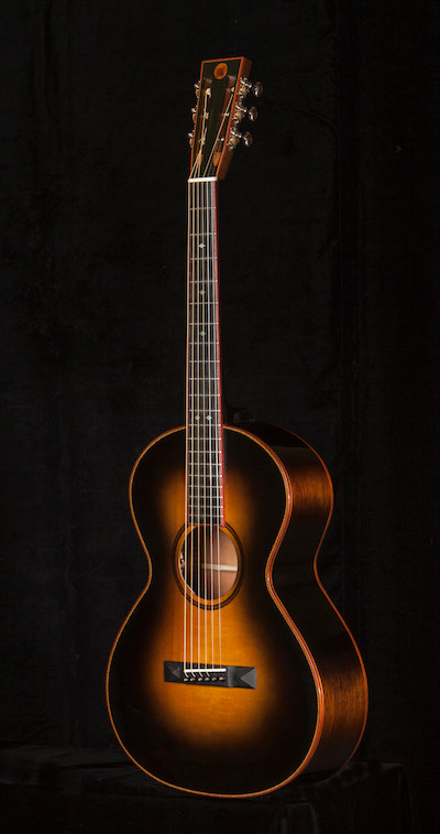 Plainsman Double O -Black Sunburst on Adirondack Top/Mahogany Sides and Back