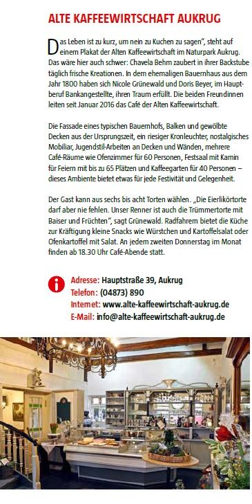 """Ausschnitt aus dem Magazin der Stadtwerke Rendsburg """"eiländer"""" 02/2018"""