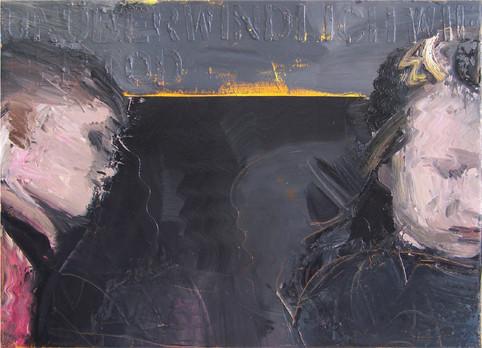 НОЧНОЙ РАЗГОВОР 2009, холст/масло, 50х70
