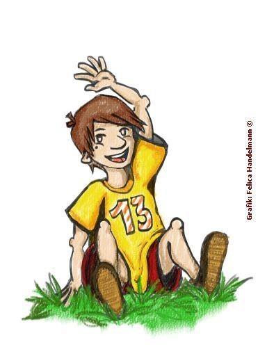 """""""Hallo! Ich bin Mika!"""" (gezeichnet von Felica Handelmann)"""