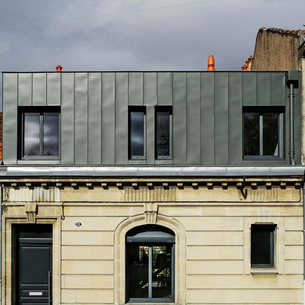 Surélévation Bordeaux surélévation d'une échoppe à talence - peg architecte