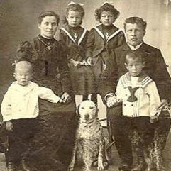 Oscar Meier mit Familie