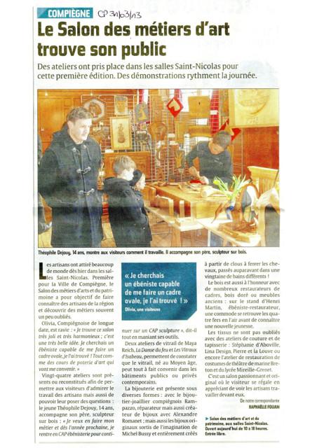 Le Courrier Picard 31 mars 2013