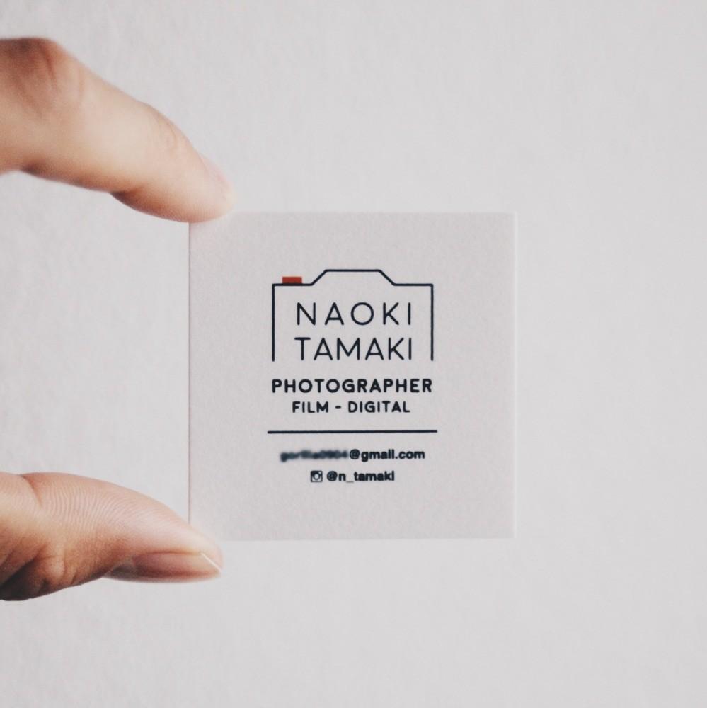 Naoki Tamaki name card