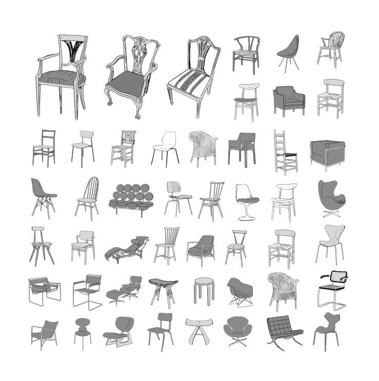 心地いいわが家のつくり方 / 主婦の友社  椅子イラスト