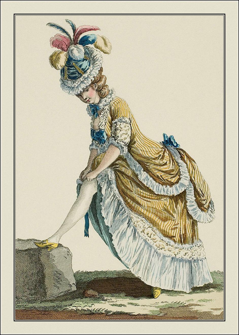 """""""Galerie des modes et costumes français""""  1778-1787"""