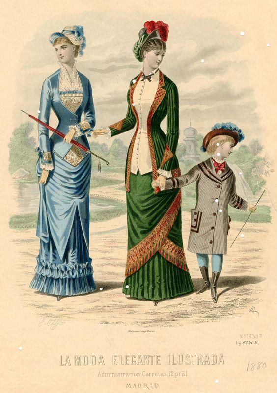 """""""La Moda Elegante"""" 1890"""