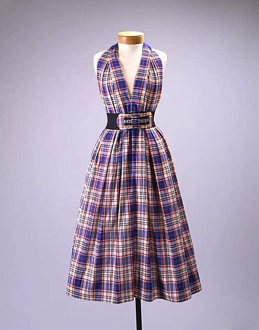 Vestido en algodón, 1940