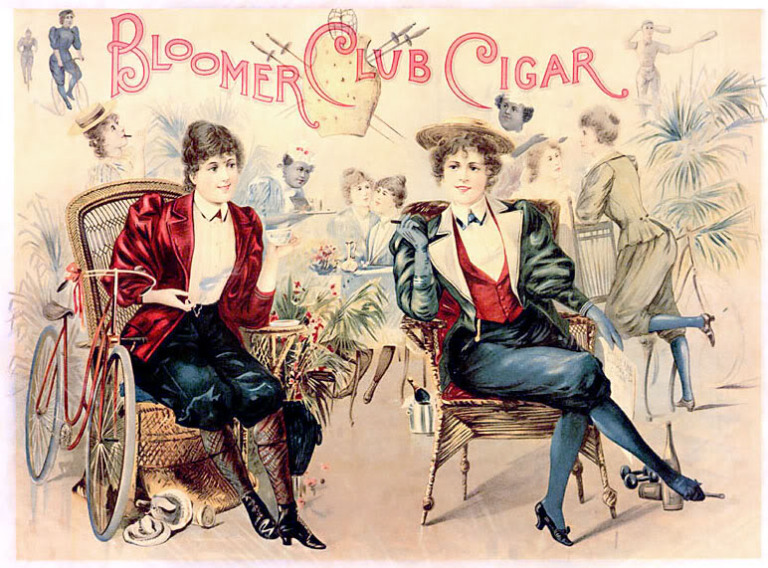 Sátira sobre los bloomers, 1890