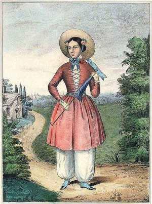 """La activista Libby Miller creadora en 1851 del """"vestido racional"""""""
