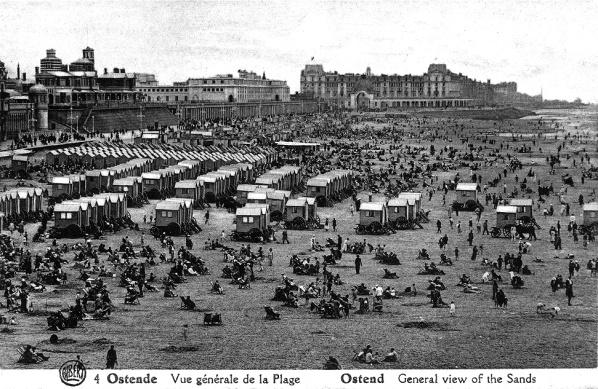 1895-  playa de Ostende en Bélgica