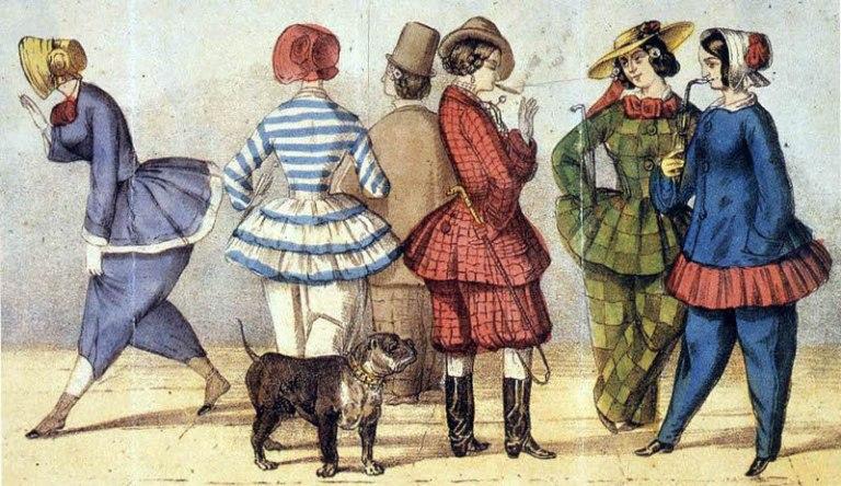 """Caricatura titulada: """"La emancipación femenina"""", 1850"""