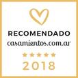 Recomendado por casamientos.com 2018
