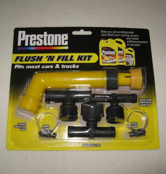 how to use prestone flush and fill kit