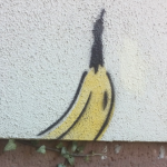 Spray-Banane in Gelnhausen, Thomas Baumgärtel, 1997
