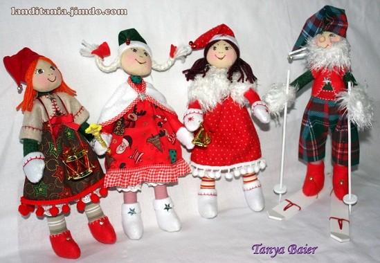 Рождественкий эльф, кукла, текстильная кукла, новый год