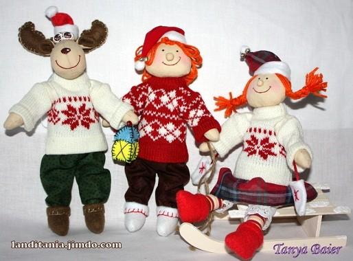 Рождественкий гном, лосик, кукла, текстильная кукла, новый год