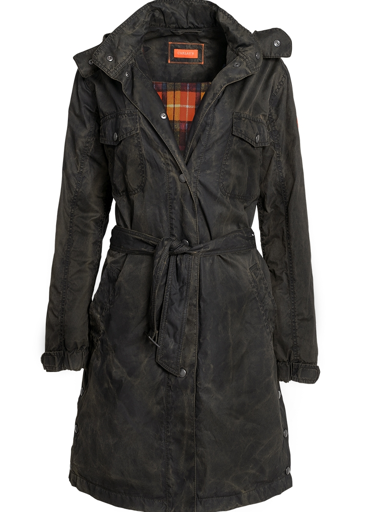 Damen Trenchcoat Bradford im Vintage-Look