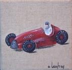 """""""Voiture de course"""" - acrylique - 10 x 10 cm"""