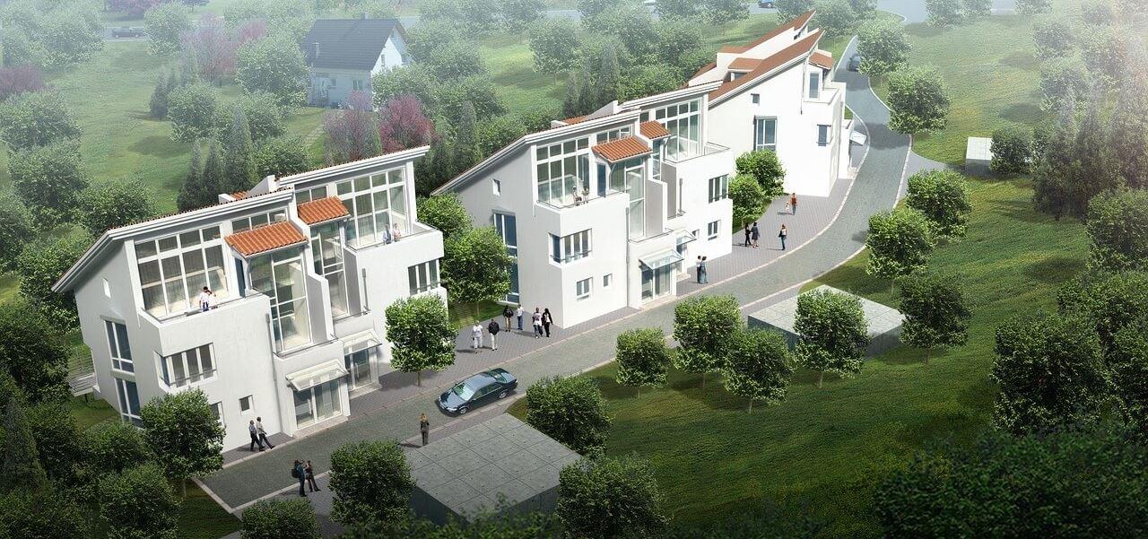 Visualisierung Mehrfamilienhäuser