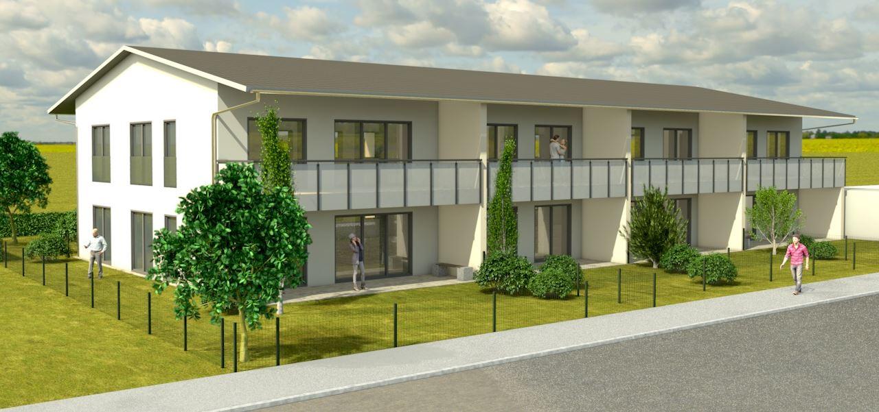 3D Visualisierung Mehrfamilienhaus mit 8 WE