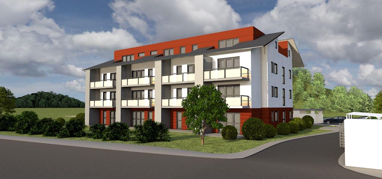 3D Architektur-Visualisierung Mehrfamilienhaus mit 21 WE