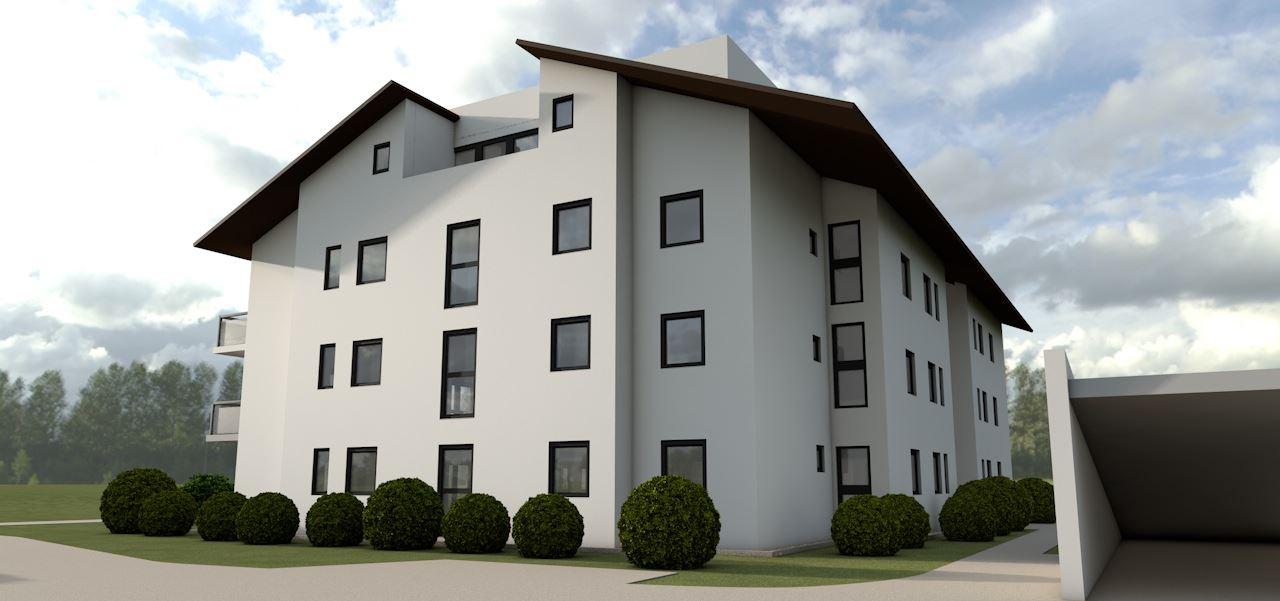3D Visualisierung Mehrfamilienhaus mit 21 WE