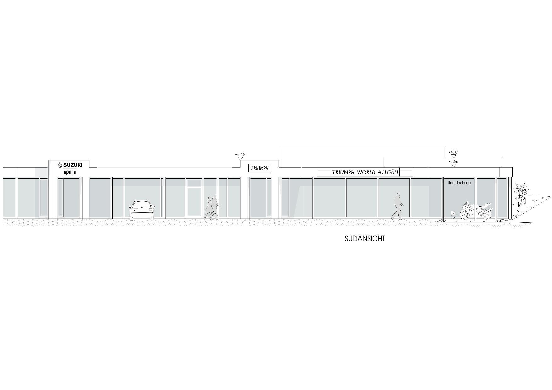 Umbau und Erweiterung Zweiradhausin Lindenberg - Planung