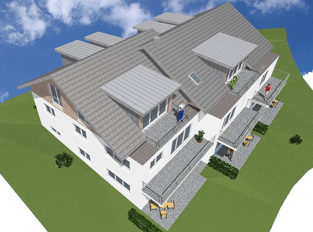 Visualisierung, Mehrfamilienhaus in Lindenberg