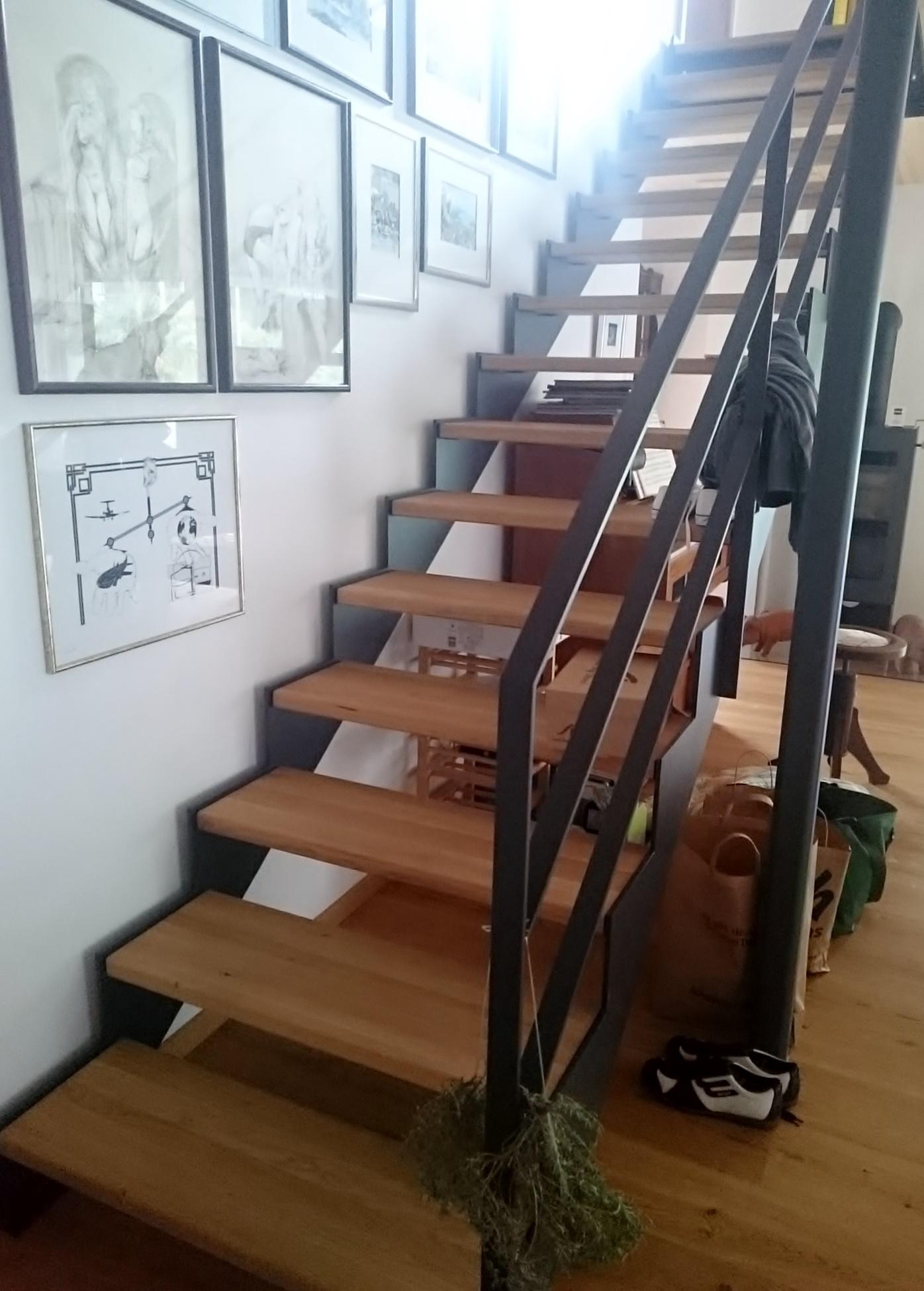 Fertigstellung, Einfamilienhaus in Oberstaufen, Treppe
