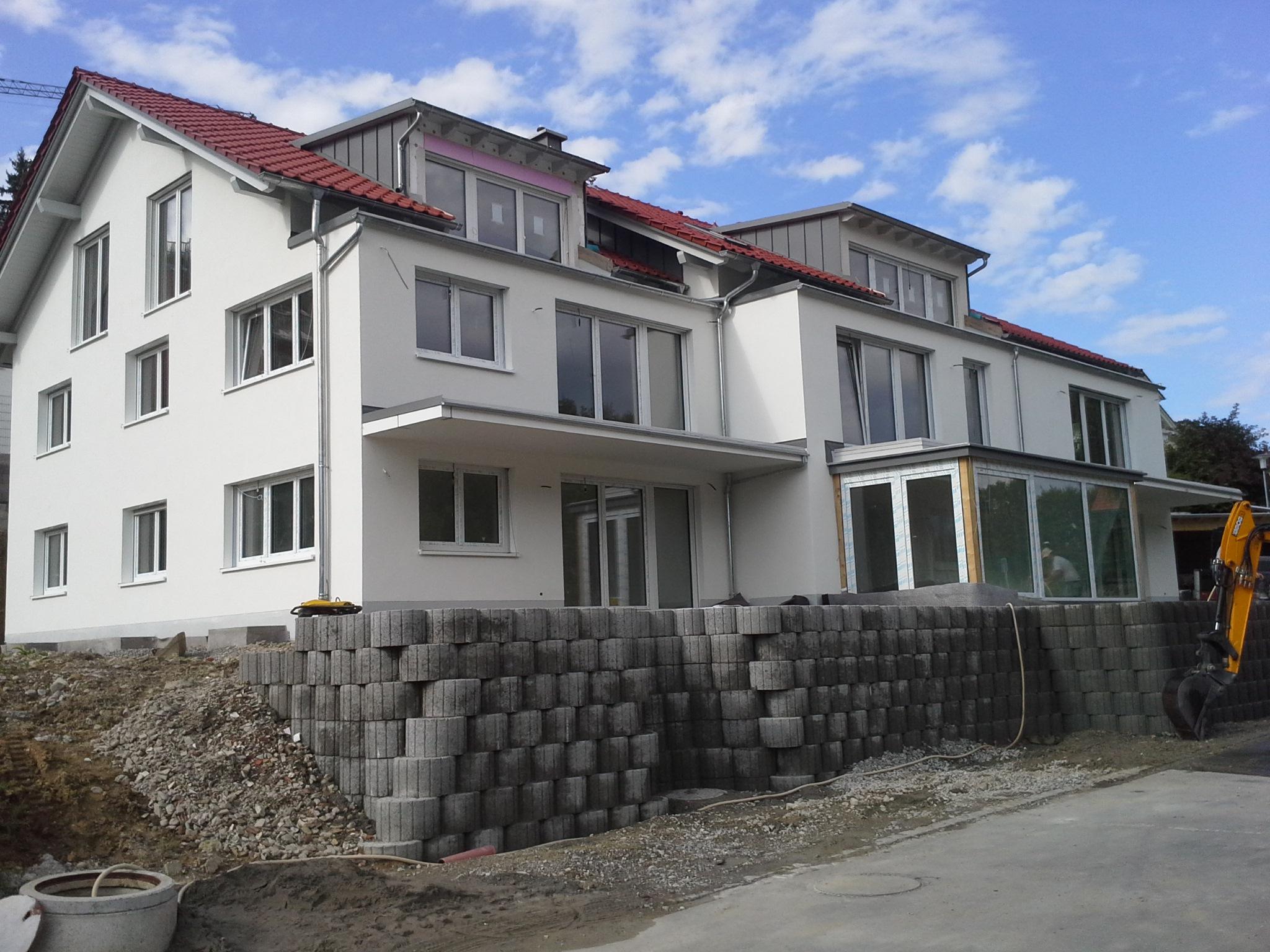 Fertigstellung, Mehrfamilienhaus in Lindenberg