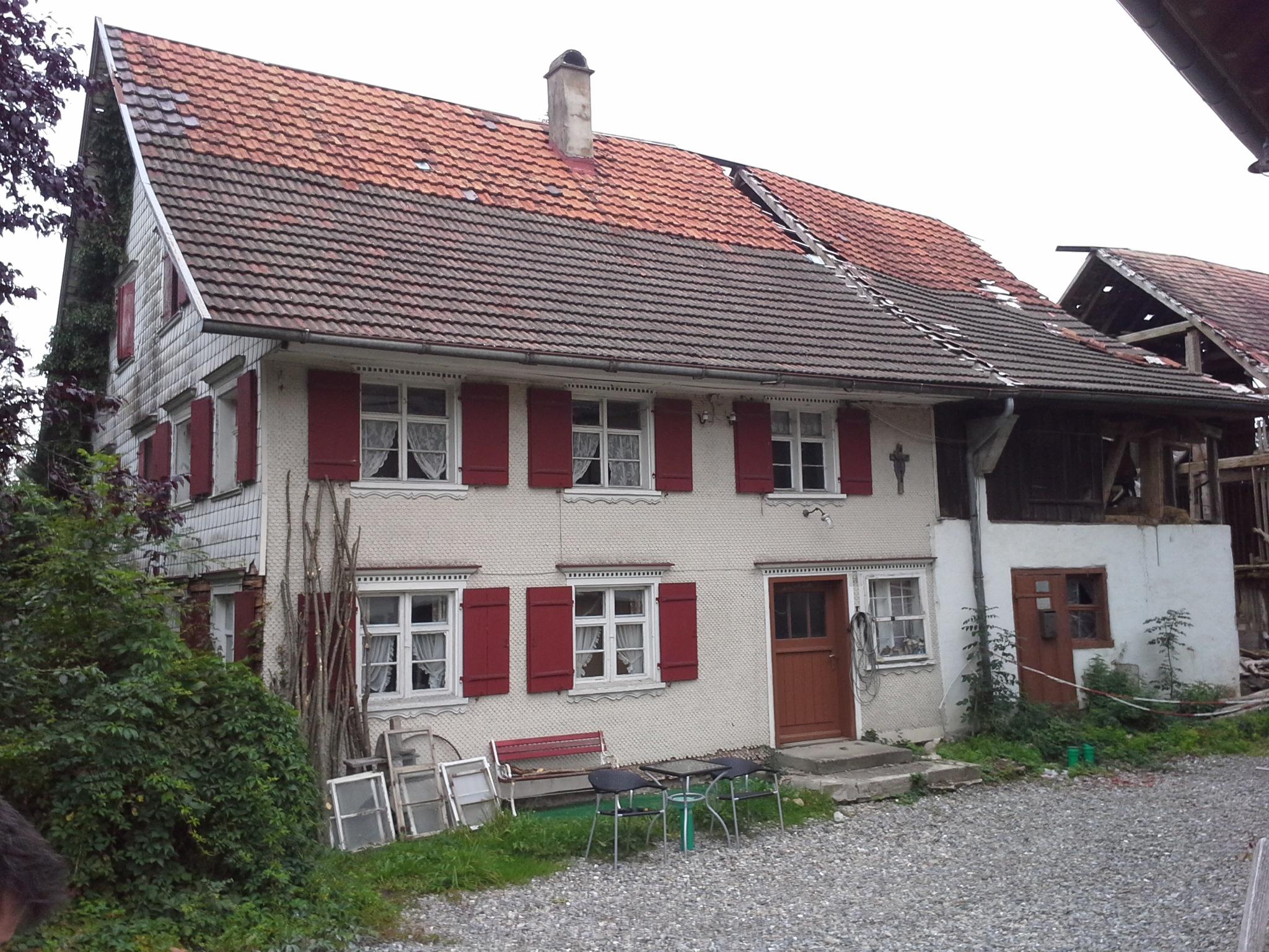 Bauphase, Sanierung Bauernhof in Niederstaufen