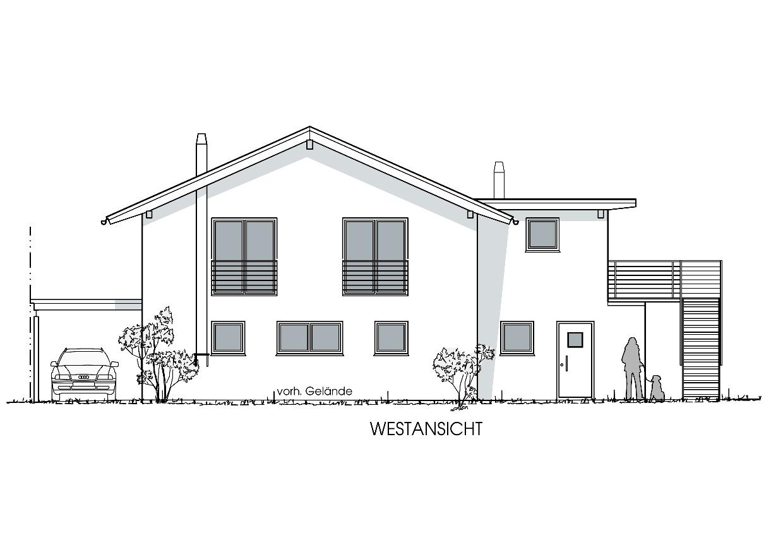 Neubau Wohn- und Geschäftshaus in Heimenkirch - Westansicht