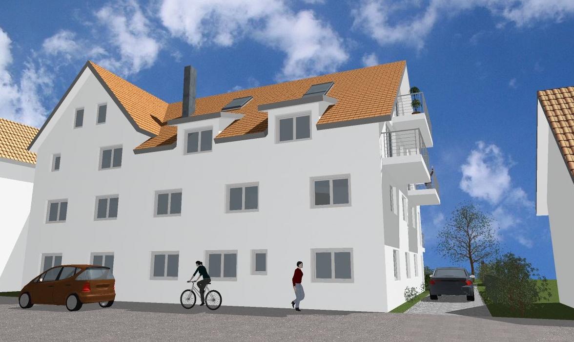Visualisierung, Mehrfamilienhaus in Winnenden