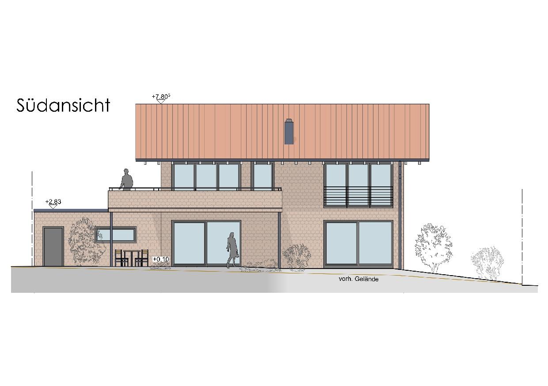 Visualisierung, Einfamilienhaus in Oberstaufen, Südansicht