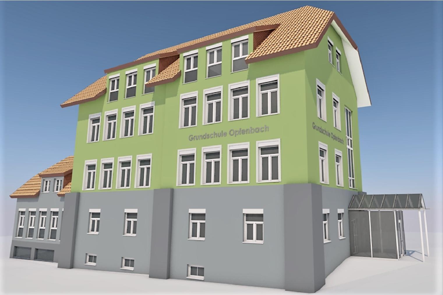 Energetische Sanierung Grundschule in Opfenbach - Farbkonzept