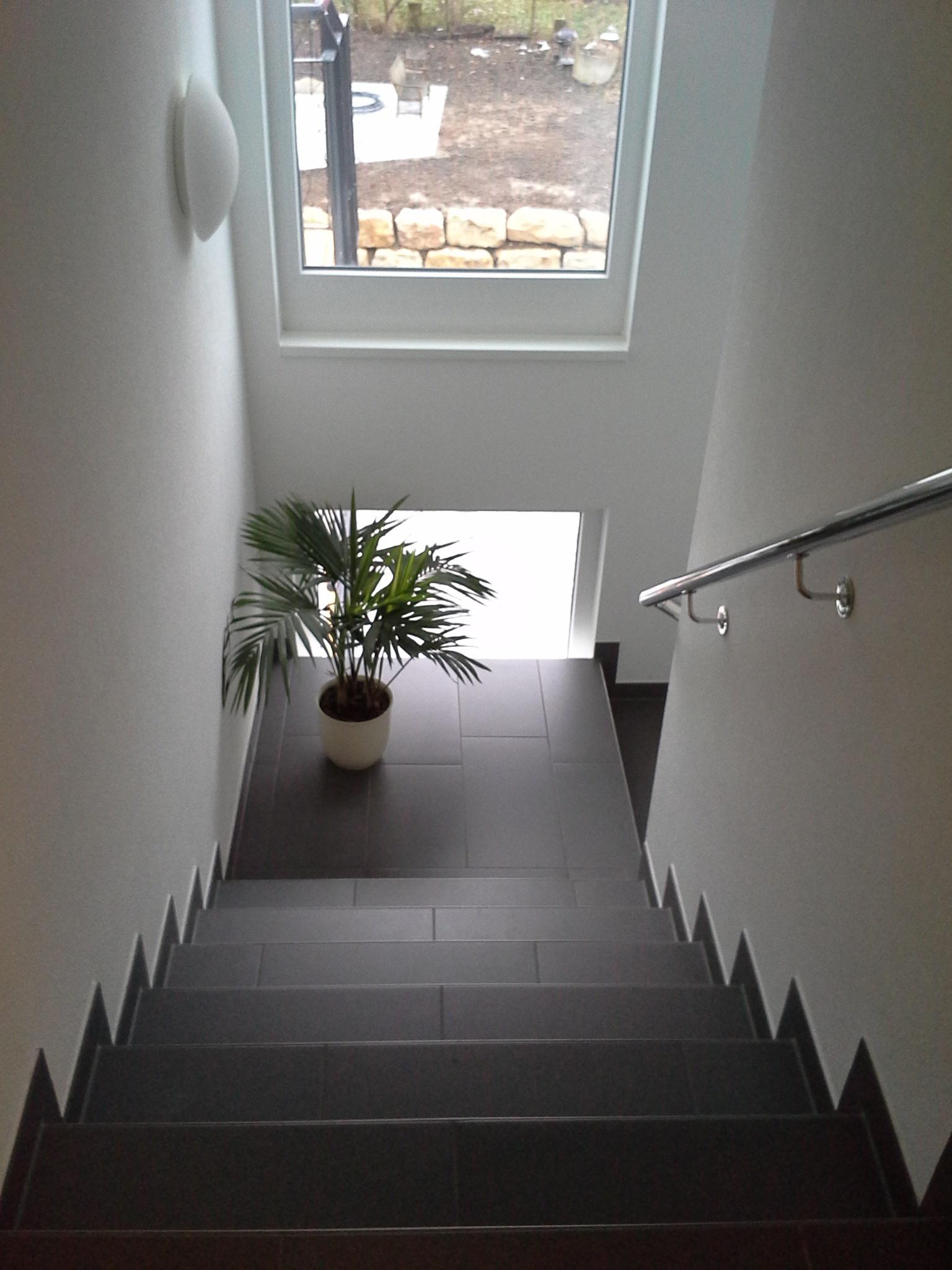 Fertigstellung, Treppe, Mehrfamilienhaus in Winnenden