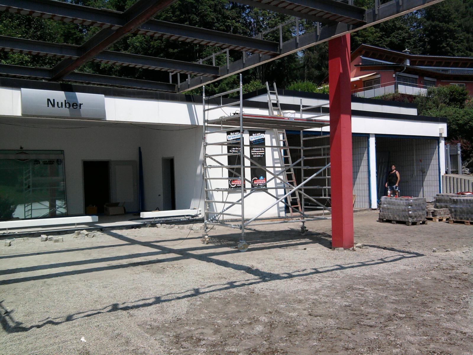 Umbau und Erweiterung Zweiradhaus in Lindenberg - Bauphase