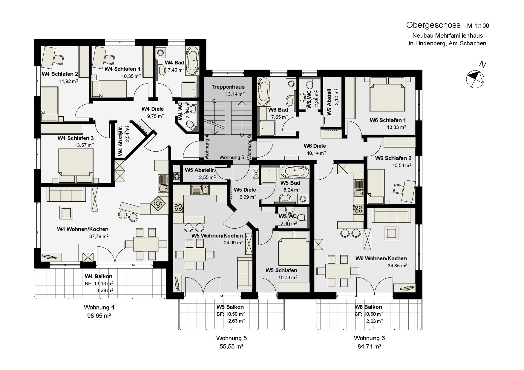 Treppenhaus grundriss mehrfamilienhaus  Mehrfamilienhaus - Planungsbüro Edgar Popp, Lindenberg im Allgäu