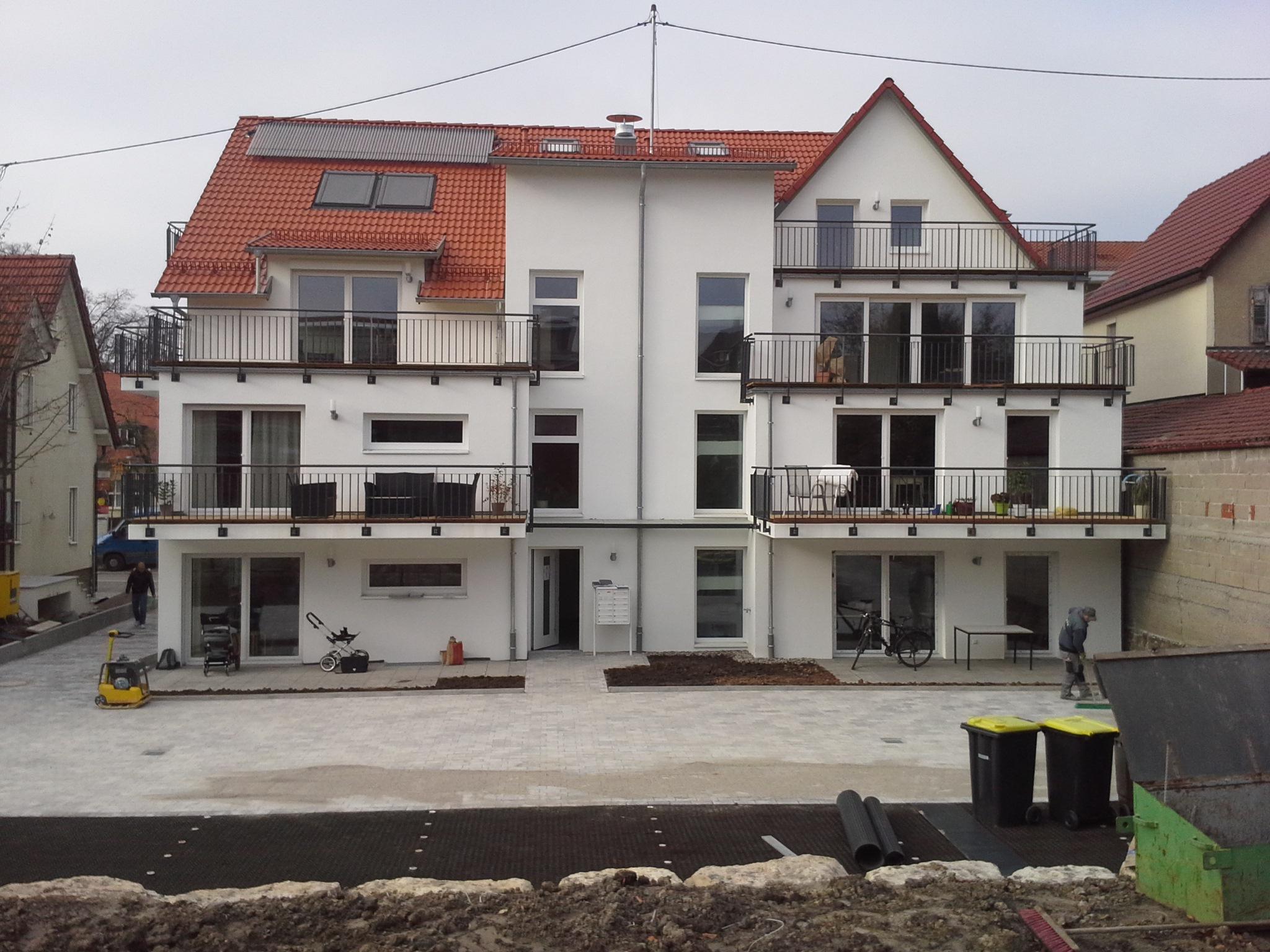 Fertigstellung, Aussenansicht, Mehrfamilienhaus in Winnenden